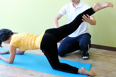 治療による症状改善後のメディカルトレーニング
